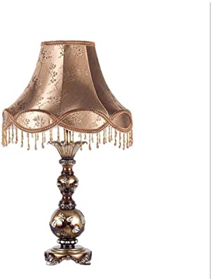 ROIY European style Table Lamp Bedroom Bedside Lamp Retro