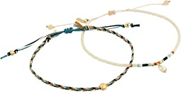 Set of 2 Pull Cord Beaded Bracelet