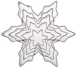 acier inoxydable Fondant g/âteau p/âtisserie moule bricolage outil de cuisson BESTOMZ 5pcs biscuits de coupe de flocon de neige de No/ël