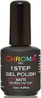 Chroma Gel 1 Step UV & LED Gel Nail Polish MATTE NO WIPE TOP COAT 45