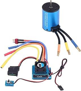 V GEBY RC Motor ESC Set, Aluminium Alloy 3660 3300KV/3800KV Brushless Motor 120A ESC Combo RC Car Accessory
