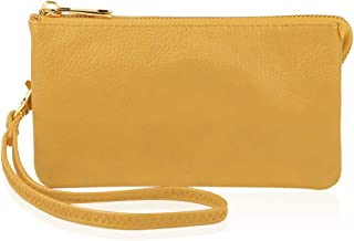 Convertible Soft Faux Leather Wallet Purse Clutch - Small Handbag Phone/Card Slots & Detachable Wristlet Strap