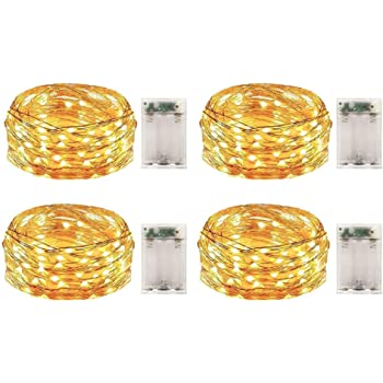 Multi-color 2 Pack Battery Operated Mini Led Fairy Lights with Timer 6 Hours on//18 Hours off for Bedroom Wedding Party Decorations,30 Count Leds,10 Feet Silver Wire