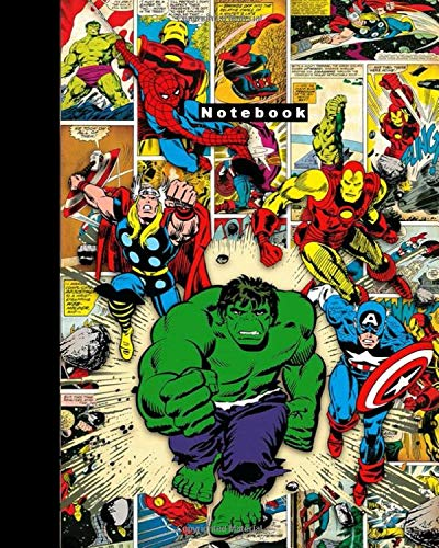 Notebook: Comics, Superhero, Journal, Diary (130 Pages, 8' x 10', in dots), Composition Notebook, Cute Cornell, Cover Soft