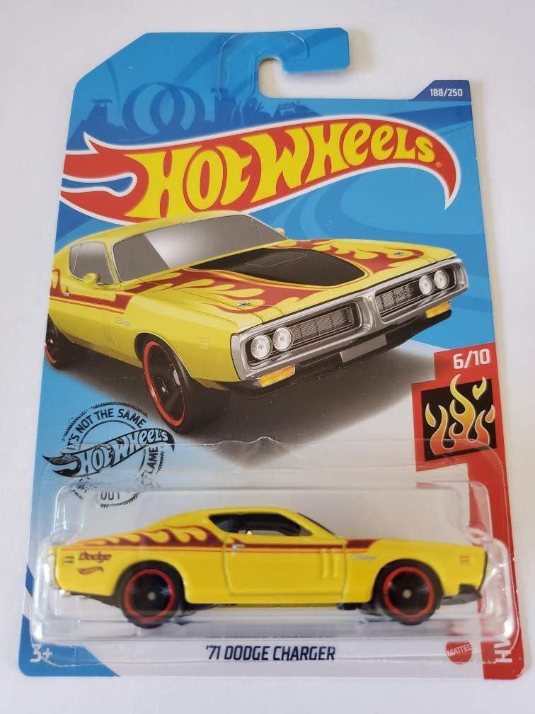 2020 Hot Wheels HW FLAMES 6//10 /'71 Dodge Charger 188//250