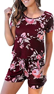 iHAZA Deal of The Day Prime 2019 Frauen Sommer Kurzarm Playsuit Clubwear Jumpsuit Bodysuits