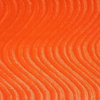 Velvet Flocking Swirl Upholstery 58 Inch Fabric by The Yard  F.E  Orange