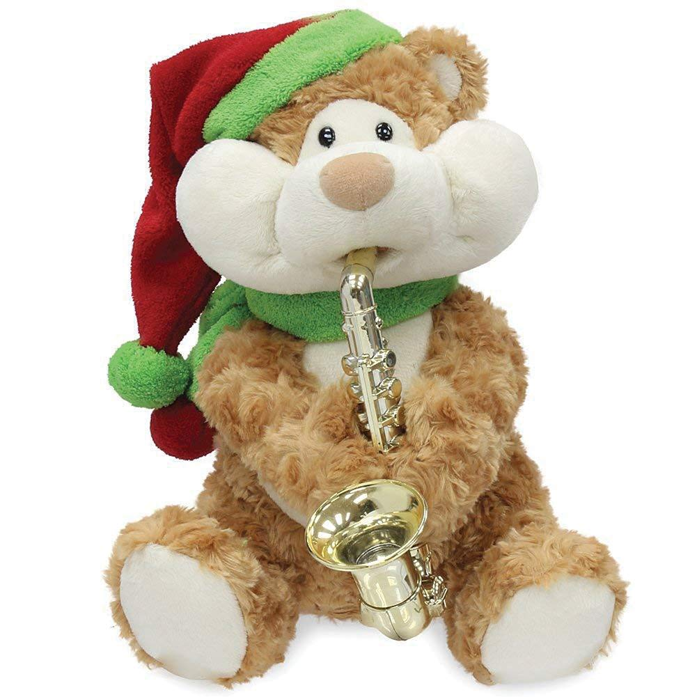 Image of Animated Musical Teddy Bear Christmas Plush Toy