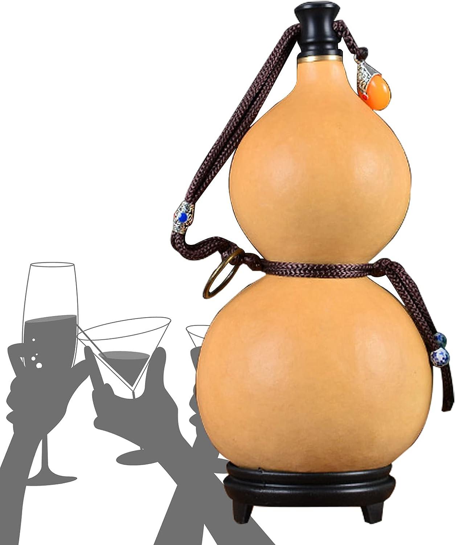 GKH2 Botella De Sake Natural, Calabaza De Agua Y Vino para Acampar, Calabaza De Agua Y Vino Anti-infiltración De Cera Abejas, Fácil De Limpiar, Su Mejor Opción para Regalo,150ml