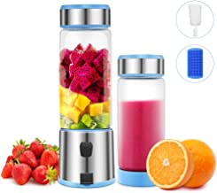 Portable Blender Glass, TTLIFE USB Rechargeable Personal Blender, Smoothie Blender Juicer Cup, Small Blender Single Serve Fruit Mixer, Travel Portable Blender Cordless with 5200mAh Rechargeable Battery for Shakes and Smoothies,Protein Shake,Baby Food