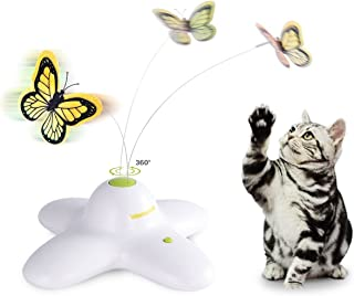 ALL FOR PAWS AFP Interactives Shiny Butterfly Flutter Bug Cat Toy