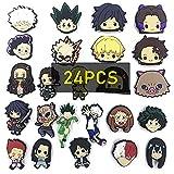 24pcs Anime Shoe Charms set - My Hero Academia Shoe Charms/ Demon Slayer Shoe Charms/ HXH Shoe Charms
