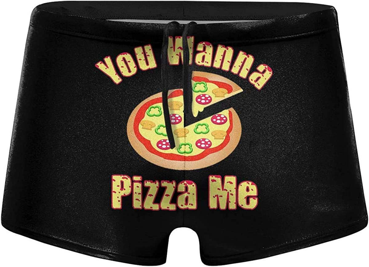 You Wanna Pizza Me Men's Swimming Trunks Fitness Swimwear Boxer Pants Board Shorts