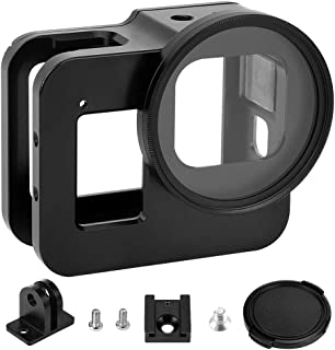 Luxebell Aluminium Alloy Skeleton Thick Solid Protective Case Shell Frame Housing for GoPro Hero 8 Vlogging
