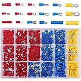Kabelschuhe, 660tlg Quetschverbinder Sortiment enthält Ringkabelschuhe, Rundstecker, Rundsteckhülsen, Flachstecker, Flachsteckhülsen, Stoßverbinder und Gabelkabelschuhe