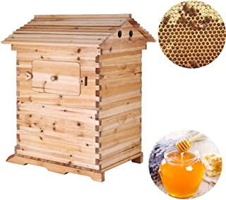 Seeutek 2 Layer Wooden Bee Hive House Frame Beehive Box