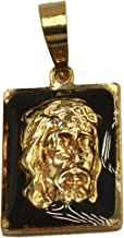 Diamantados of Florida Jesus Christ Face Pendant - Cristo Medal 18k Gold Plated Medal with 20 inch Chain