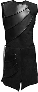 COSFLY Mens Unisex Mid-Long Renaissance Medieval Victorian Waistcoat Vest Costume Split Stage Suit