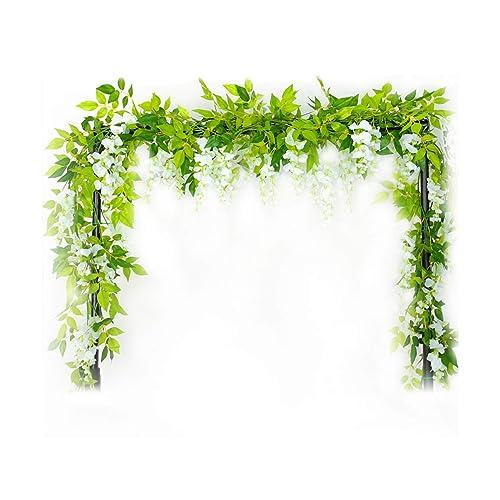 Lot de 3fleurs artificielles Wisteria en soie pour décorations de mariage, maison, jardin, fête, fleur de simulation