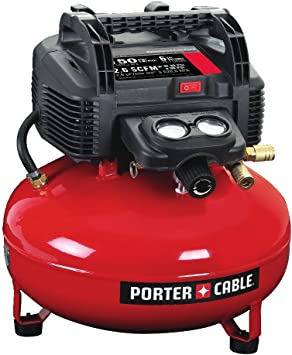 PORTER-CABLE Air Compressor, 6-Gallon, Pancake, Oil-Free (C2002): image