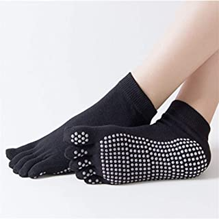 SGJFZD 3pairs/Set Five Finger Socks Female Solid Color Non-Slip Yoga Socks Dispensing Five Toe Sports Socks Floor Socks, Color Randomly Sent (Color : Random)