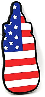 American Flag Baby Bottle Diaper Bag PVC Hook and Loop Patch | Funny Tactical Patch