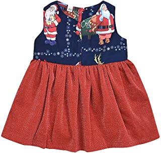 Baby Girl Christmas Dress,Tronet Children's Christmas Sleeveless Cartoon Santa Reindeer Print Skirt Dress