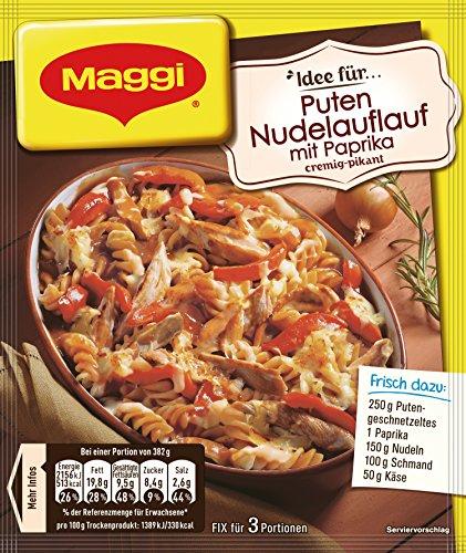 Maggi fix & frisch Puten-Nudel-Auflauf mit Paprika, 39g