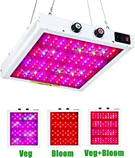 Professional 600W Dimmable LED Grow Light Full Spectrum Including UV and IR with Ve and Bloom Dimmers for Indoor Plants Veg and Flower