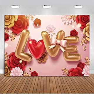 LTLYH 7x5ft Valentine's Day Photography Background Children Baby Shower Supplies Photo Booth Photo Background Mothers Day Decorations Party Banner 093