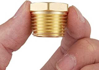 Litorange 4 PCS Heavy Duty Brass Pipe Fitting Hex Bushing 3/8