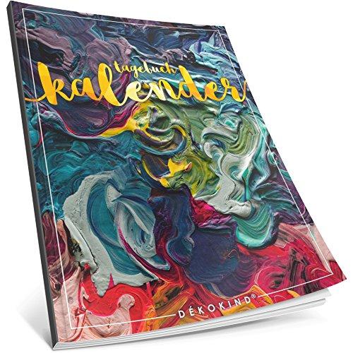Dékokind® Tagebuch-Kalender: One Line A Day • Ca. A4-Format, Notizseiten & Zitate für jeden Monat • Buchkalender, Aufgabenplaner, Terminplaner • ArtNr. 35 Dicke Farbe • Vintage Softcover