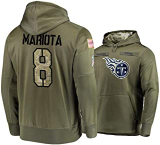WinCraft Men's Tennessee Titans #8 Marcus Mariota Olive 2018 Salute to Service Hoodie