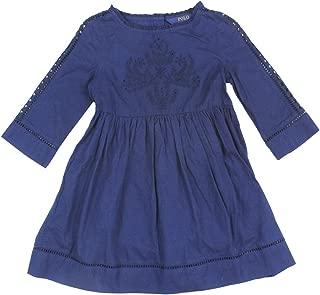 RALPH LAUREN Girls Embroidered Long Sleeve Batiste Dress