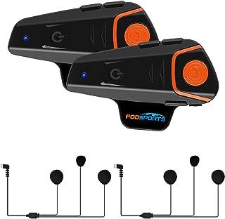 Fodsports BT-S2 Intercomunicadores Moto de motocicleta Auricular Bluetooth Casco Sistemas de comunicación Kit Impermeable ...