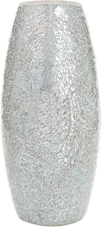 Dekorative glitzernden glitzernden glitzernden Sparkled Mosaik Blaumen Vase Geschenk, glas, Silber, Height 31cm Diameter 8 cm B01BGRWNU0 7c9f9b