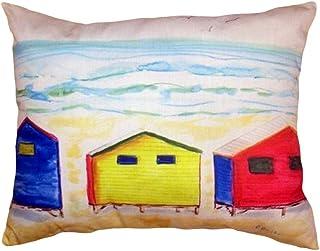 "Betsy Drake NC495 Beach Bungalows No Cord Pillow,,16"" X20"""