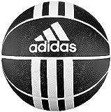 adidas 3S Rubber X Bola de Basketball, Adultos Unisex, Black/White, 7