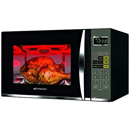 Emerson Radio Emerson MWG9115SB, 1.2 Cu. Ft. 1100W Touch Control, Stainless Steel Microwave Oven with Grill