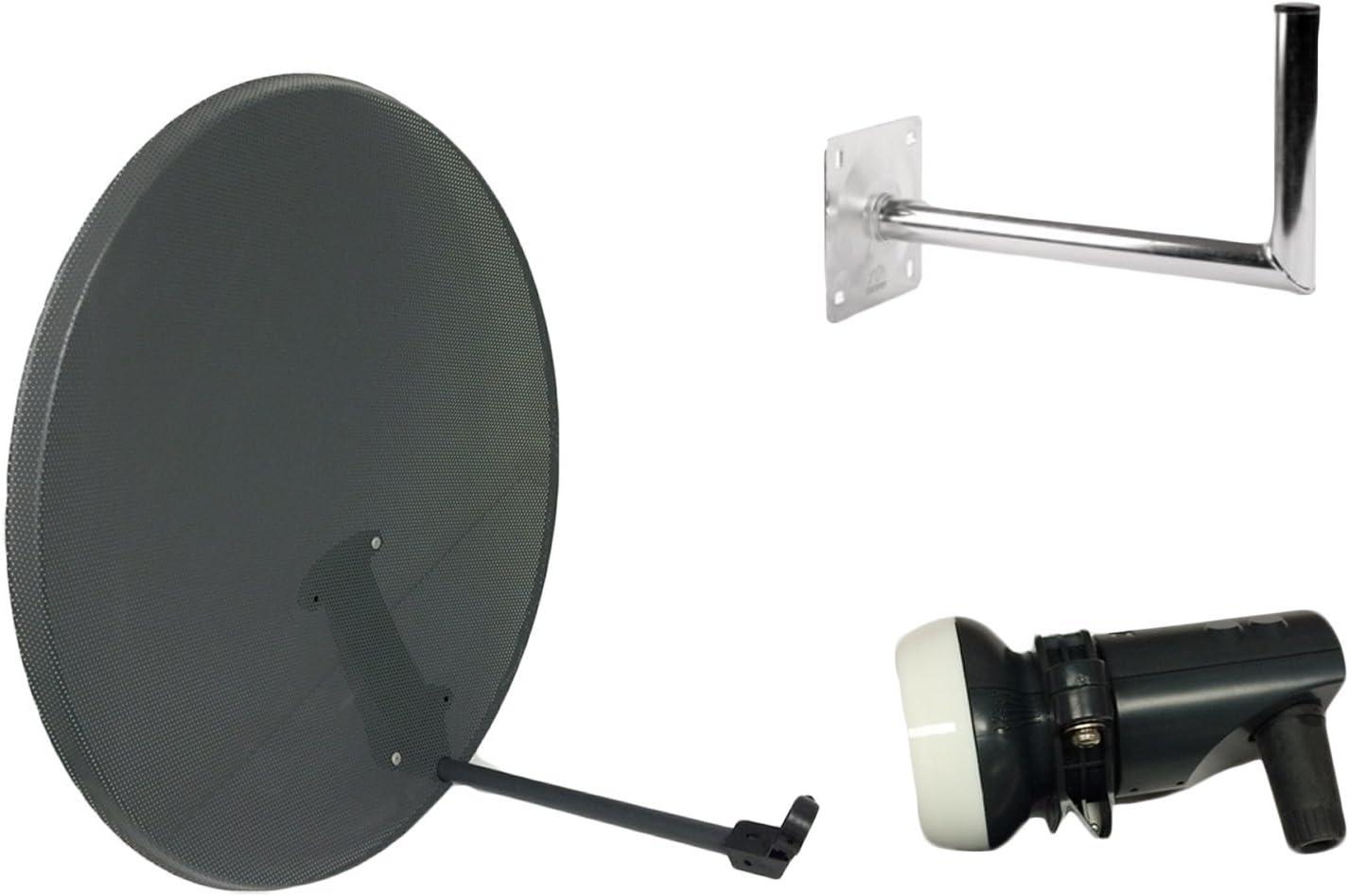 TV Tech Antena parabólica de malla de 80 cm para cielo, freesat, Polsat, Hotbird, Eurosat, Astra 1 y 2