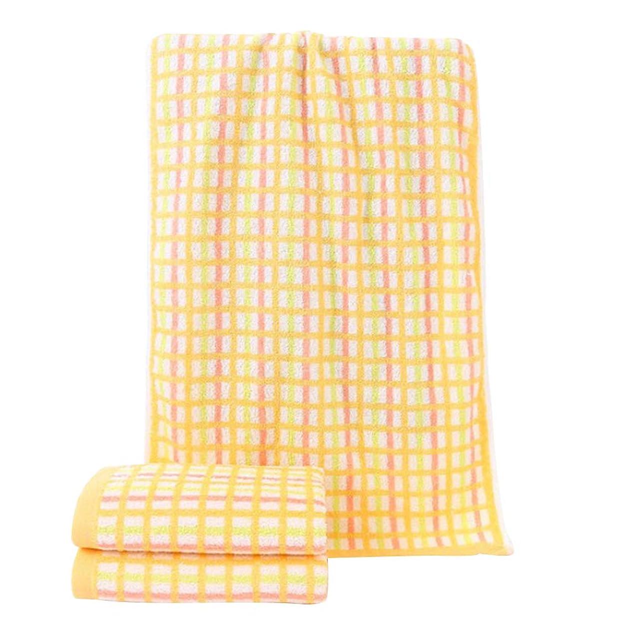 アルファベットよりフレアTOPBATHY 家庭用バスルーム用綿フェイスタオル超吸収性速乾性ウォッシュタオル(黄色)
