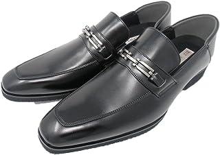 [BIZ ALPHA] ビズアルファ メンズビジネスシューズ 551-538 軽量 消臭 通気底 ビット 快適 紳士靴 2WAY 合成皮革