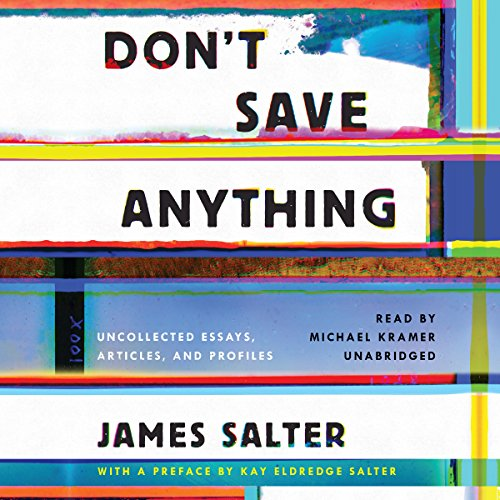 Don't Save Anything audiobook cover art