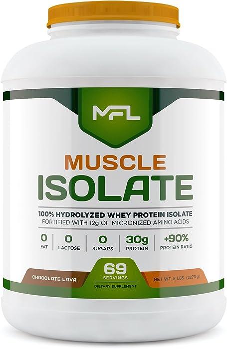 MFL 100% Isolate Protein l 30g of Protein l 12g Amino Acids l Keto Friendly l Low Carbs l 5 lbs. (Chocolate Lava)