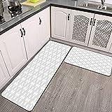 Juegos de alfombras de Cocina,CFLJTXP-75534,Antideslizantes Lavables de 2 Piezas Alfombra súper Absorbente