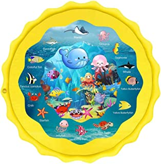 Beauenty Kiddie Baby Pool, Outdoor Games Water Mat Toys - Baby Infant Wadin Swimming Pool - Fun Backyard Fountain Play Mat...