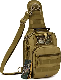 IDOGEAR Tactical Sling Bag Pack Small EDC Molle Assault Military Army Shoulder Backpack