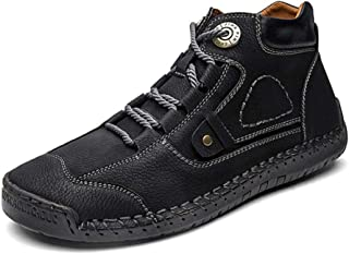 Dr. Martin Unisex Boots Wild breathable tooling shoes fashion retro tide shoes thick wear-resistant ankle boots thick bottom round head boots simple non-slip ankle boots (Color : Black, Size : 45)