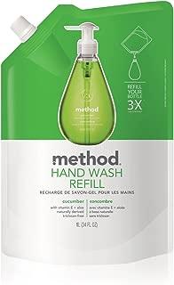 Method Gel Hand Wash Refill 34oz, Cucumber (Pack of 2)