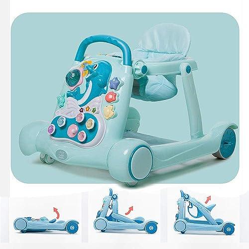comprar descuentos CX ECO 2 en1 Bebé Actividad Caminante Caminante Caminante para Niños pequeños Primeros Pasos Caminante Trolley Toys Niños pequeños Temprano Párese y camine Aprendizaje Prevenga la Pierna arqueada,verde  colores increíbles